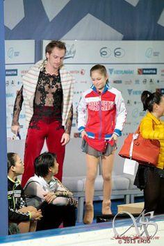 Sergei Voloviev, Yuzuru Hanyu and Julia Lipnitskaia
