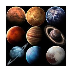 Hight Quality Isolated Solar System Planets. Elements of this Image Furnished by NASA Art Print