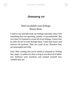 Staying Strong book 10th January
