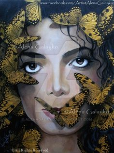 Michael Jackson - Butterflies by AlenaGalayko on DeviantArt