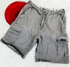 Body Glove Mens Cargo Shorts Size 30 Gray Skater Casual Cotton o545 #BodyGlove #Cargo