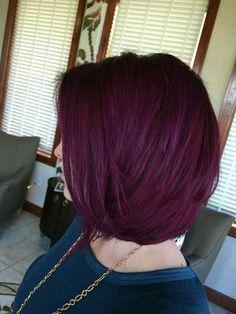Hair Color Purple Deep Ideas For 2019 Red Hair red purple hair Red Purple Hair, Violet Hair Colors, Deep Burgundy Hair Color, Hot Hair Colors, Deep Purple, Pelo Color Borgoña, Red Color, Colour, Hair Color Formulas