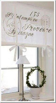 Brise bise store lin rideaux rideau brod s voilages for Fenetre 45x60