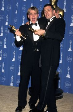 """Matt Damon and Ben Affleck - winners of the Best Original Screenplay Academy Award for their work on """"Good Will Hunting"""" - March 23, 1998."""