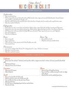 Printable Kitchen Cleaning Checklist for Kids | Cleaning charts ...