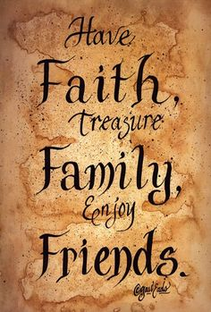 Faith, Family, Friends Art Print by Gail Eads at Urban Loft Art