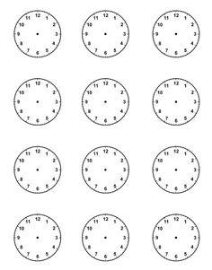 Actividades para niños preescolar, primaria e inicial. Plantillas con relojes analogicos para aprender la hora diciendo que hora es. Que hora es. 3