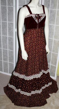 70s Vintage Gunne Sax Dress Hippie Boho Prairie by PetticoatsPlus