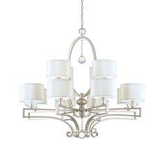 Home Décor Chandeliers  Savoy House 125112307 Chandelier with Silver Fabric Shades Silver Sparkle Finish * This is an Amazon Associate's Pin. Find out more on Amazon website by clicking the VISIT button.