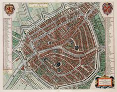 This map is from 1649, and I can still recognize MANY of the buildings. Absolutely insane. #Holland
