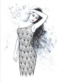 Print from Original Watercolor Fashion Illustration by Mysoulfly, on Etsy