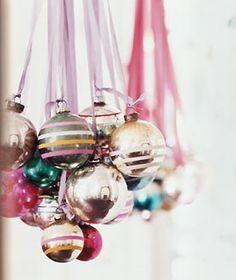 Ribbons and shiny ornaments...