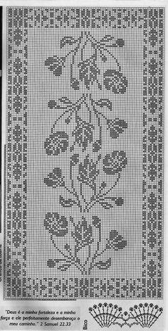 Crochet Patterns Filet, Crochet Tablecloth Pattern, Crochet Curtains, Crochet Motif, Crochet Cross, Thread Crochet, Crochet Dollies, Fillet Crochet, Crochet Table Runner