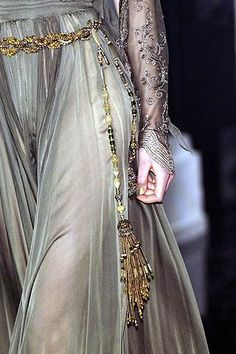 Fairy tale fashion fantasy/karen cox Jean Paul Gaultier, sheer and beaded #mizustyle
