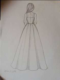 Diy Discover Custom Modest Wedding Dress Custom Bridal Gown -Chelsea Related Simple Doodles You Can Easily Copy in Your Bullet Journal Bullet journal desi. Girl Drawing Sketches, Cute Easy Drawings, Art Drawings Sketches Simple, Girly Drawings, Pencil Art Drawings, Art Sketches, Drawing Poses, Drawing Ideas, Pencil Sketch Drawing