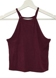- High neckline - ribbed crop top - 95% rayon and 5% spandex - imported