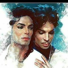 The Gloved One and The Purple One.Michael Jackson, King of Pop and Prince African American Art, African Art, Image Couple, Arte Black, Black Art Pictures, Lisa Marie Presley, Art Africain, Black Artwork, The Jacksons