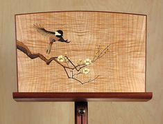 This is pretty.  I don't think I'd ever want to put sheet music on it!  ~~~Custom Music Stand with marquetry by Matthew Werner