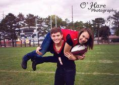 Senior football boyfriend girlfriend - O'Hare Photography