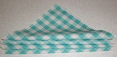 Aqua Gingham Napkins 8 x 8 by bourgebride on Etsy, $12.00
