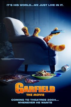 High resolution official theatrical movie poster ( of for Garfield Image dimensions: 933 x Directed by Peter Hewitt. Streaming Movies, Hd Movies, Movies And Tv Shows, Hd Streaming, 1 Film, Film Movie, Garfield The Movie, Hollywood Movies 2018, Coming To Theaters