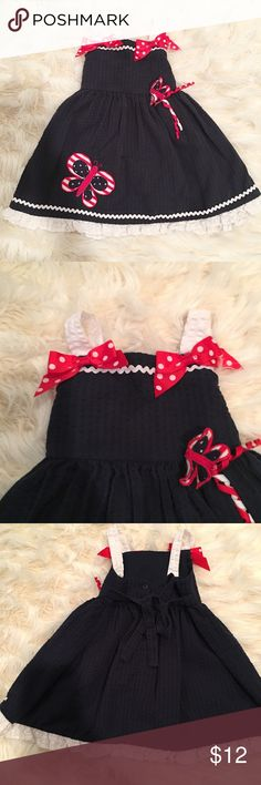 Baby girl Fourth of July dress Adorable little dress with ruffle hem. Well made Dresses Casual