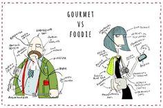 foodie vs. gourmet