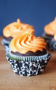 Chocolate Spiced Cupcakes with Clementine Cream Cheese Frosting