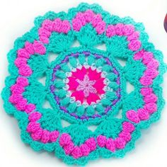 Free your inner Mermaid with this free Sea Shell crochet Mandala pattern using…