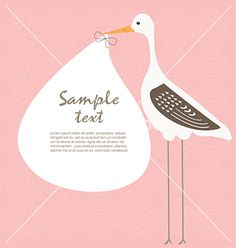 Baby card vector - by katerinarspb on VectorStock®