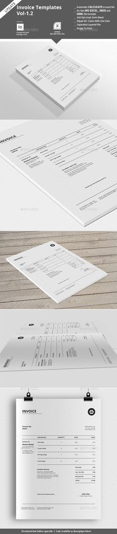 Invoice Template Template, Logos and Business card logo - graphic design invoice sample