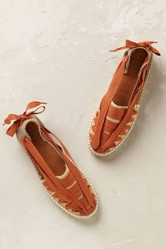 Beatriz Ribbon-Tied Espadrilles by Naguisa Espadrilles, Espadrille Shoes, Shoes Flats Sandals, Loafer Flats, Flat Shoes, Fairy Shoes, Diy Clothes And Shoes, Minimal Dress, Yellow Shoes