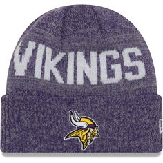 87d02f68 Men's Minnesota Vikings New Era Heathered Black Label Scale Trucker ...
