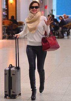 Inspire-se nos looks que as famosas usam para viajar