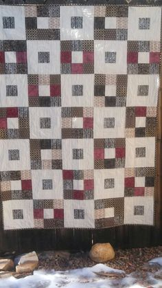 Mom's 82 bday present. Nine Patch Quilt, Quilted Table Runners, Quilting Ideas, Presents, Quilts, Blanket, Rugs, Home Decor, Gifts