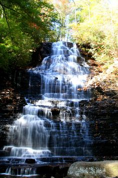 3)Located in the Cherokee National Forest, Benton Falls is close to seventy feet of cascading water that puts on the best show during the fall season.