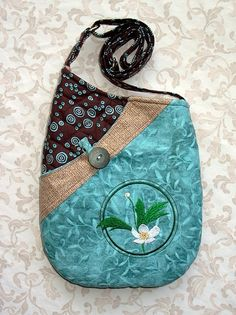 Small Quilted Shoulder Bag Purse with by seablossomdesign on Etsy, $49.00-Isn't this one Cute?