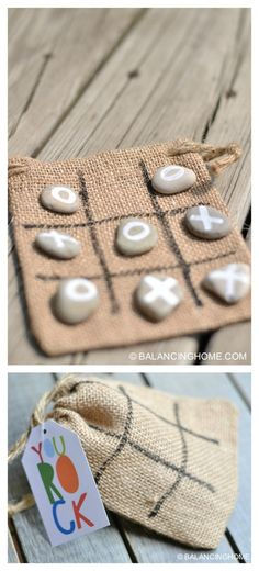 DIY KID CRAFT/GAME & PRINTABLE Throw it in your purse to keep the kids busy at a restaurant or give it as a handmade gift or party favor. Tic-Tac-Toe is always a good idea! diy gifts Tic Tac Toe Rocks Activity or Gift Diy Niños Manualidades, Fun Crafts, Diy And Crafts, Rock Crafts, Party Crafts, Kids Crafts To Sell, Simple Crafts, Summer Kid Crafts, Easy Kids Crafts