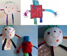 """Awesome!  Send in your child's drawing and they make it into a """"stuffy""""!  The site has links to others who do this too. I can't wait till Alex starts drawing!"""