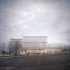 Allmann Sattler Wappner Architekten, Museum of Dignity Competition, Visualisierung: Forbes Massie