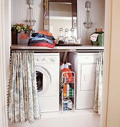 Think I will attempt this for our laundry room! Very cute, organized idea!