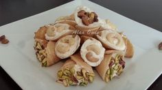 طريقة عمل قطايف بالقشطة والمكسرات - Delicious #oriental #sweets with #kashta