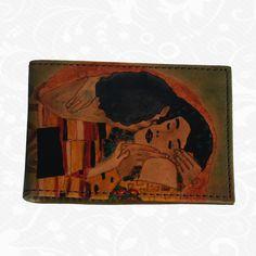 maľovaný vizitkár z pravej kože Gustav Klimt - The kiss Gustav Klimt, Kiss, Kisses, A Kiss