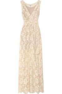 Lace maxi dress. Just needs a bright undershirt and cardigan. Maybe turquoise? And maybe a simple pearl necklace?