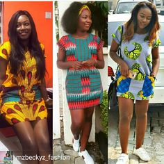 Ankara Short Gown Styles Classy To Rock - Ani Exclusive Short African Dresses, Ankara Short Gown Styles, Short Gowns, Ghanaian Fashion, Latest African Fashion Dresses, African Print Dresses, African Print Fashion, Africa Fashion, African Prints