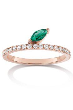 Selin Kent Diamond and Emerald Ring | HarpersBAZAAR.com