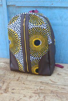 Mini Ankara Backpack/ Bookbag/ Rucksack/ School Bag/ Back pack by AdinkraExpo on Etsy