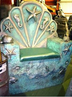 Picture of King Neptune's Throne and Trident The Little Mermaid Musical, Little Mermaid Play, Little Mermaid Costumes, Mermaid Under The Sea, Under The Sea Theme, Under The Sea Party, Mermaid Bra, Mermaid Cove, Arte Coral
