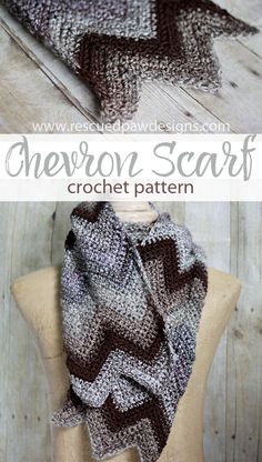 Neutral Chevron Scarf - Crochet Pattern