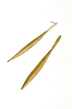 Long Earrings Feather Greek Goddess sterling silver or by zozichic, $99.00